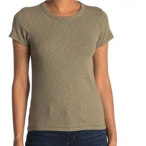 RAG & BONE Women's Tee Core Rib T-Shirt Green XS